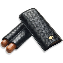 Cigar Set Moisturizing Travel Moisture Cover Portable 2 Pack Protective Case CD-1016