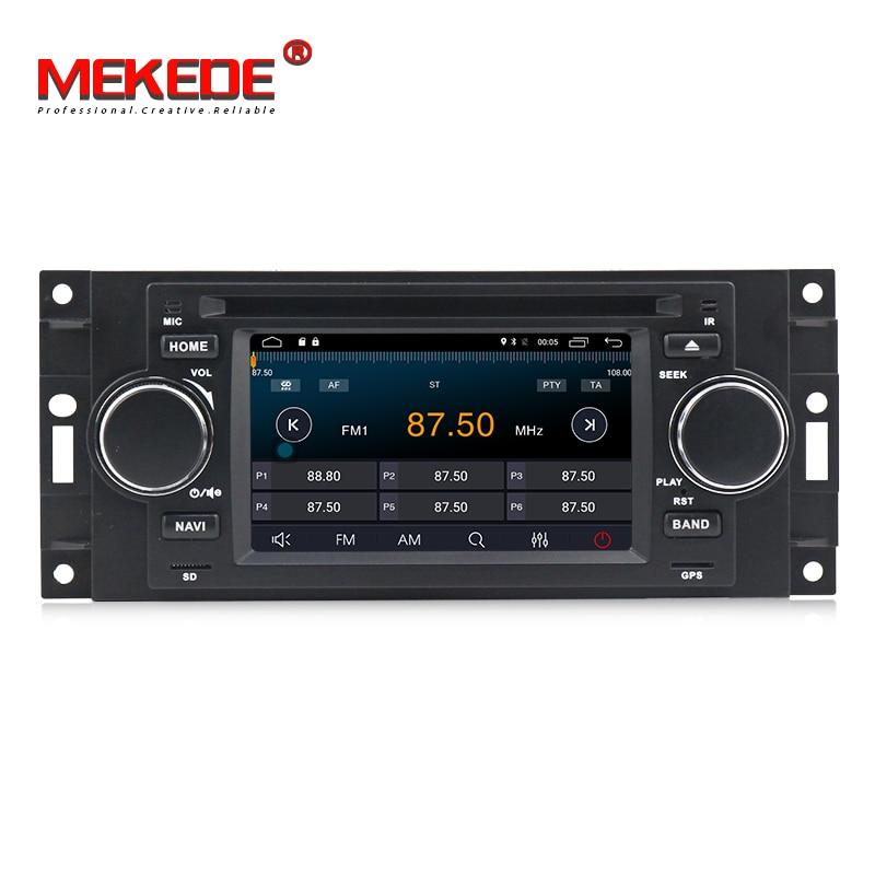 Lecteur multimédia de voiture MEKEDE android 8.0 5 pouces pour Chrysler/300C/Dodge/Jeep/commandant/boussole/Grand Cherokee Radio GPS DVD