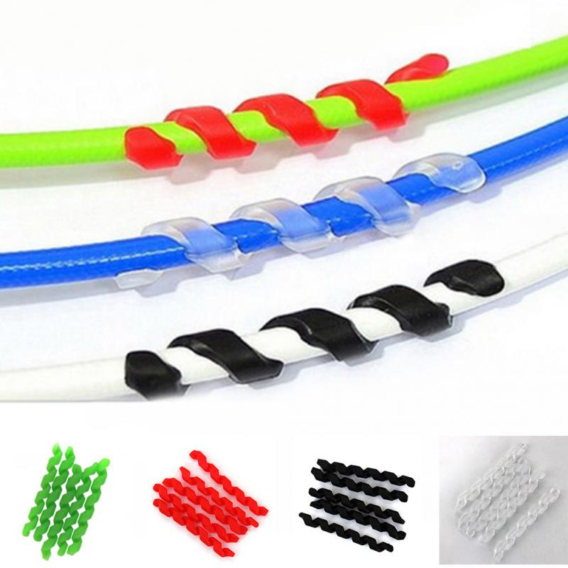 2018 Hot Sale 5pcs Bicycle Brake Cable Housing Rubber Protector Anti-friction Bicycle Frame Cycling Wrap Guard Tubes