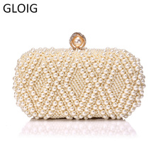 Embroidery Handmade Pearl Handbags Rhinestones Beaded Wedding Bags Small Day Clutches Night Club Evening Bags