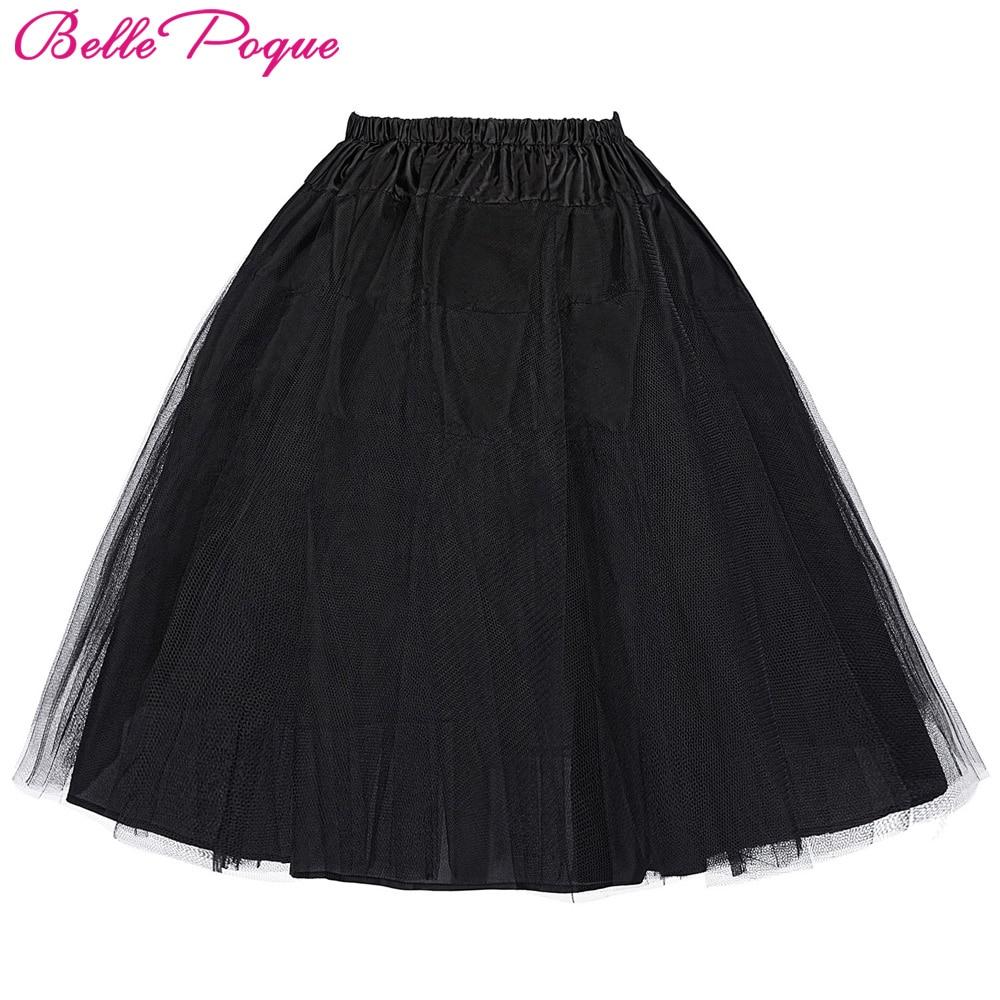 Beaut Shadow Store Belle Poque 2017 Jupon Rockabilly Petticoat Underskirt Crinoline Retro Vintage Women Party Black Slips Tulle Skirt Pettiskirt