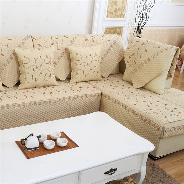 Sofa Cushion Fabric Couch Seat Cover Antislip Sectional Armrest Towel Throw Pillowcase Blanket Canape Case