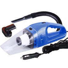 цена на Portable Mini 12V 120W Power Wet and Dry Dual-use Super Suction Handheld Car Vacuum Cleaner Detachable HEPA Filter