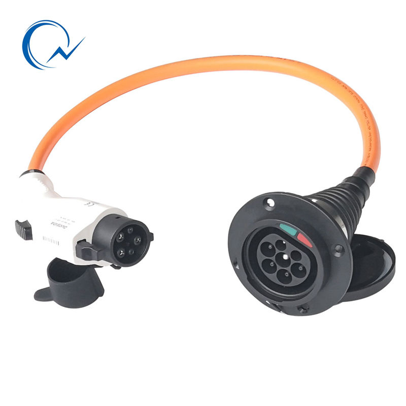 32A single phase Type 1 To Type 2 Electric Car Vehicle Charging Connector Female To Male SAE J1772 To IEC 62196-2 EV Charger32A single phase Type 1 To Type 2 Electric Car Vehicle Charging Connector Female To Male SAE J1772 To IEC 62196-2 EV Charger