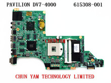Original 615308-001 FOR HP DV7 DV7-4000 series Laptop Motherboard DA0LX6MB6F0 REV:F 5650/1G Mainboard 90Days Warranty