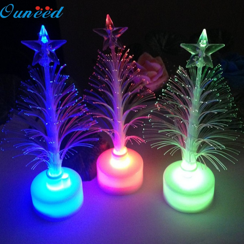 Ouneed 12*3.5cm Christmas Xmas Tree Color Changing LED Light Lamp Home Decoration Happy Gifts High Quality Optical Oct 6