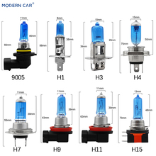 MODERN CAR 2pcs H1 H3 H4 H7 H9 H11 H15 9005 9006 Warm White Halogen Xenon Fog Light Bulb For Auto 55W 12V External Lights Lamp beler 2pcs right left fog light lamp with h11 halogen 55w bulb assembly for nissan cube juke murano infiniti ex35 ex37 qx50