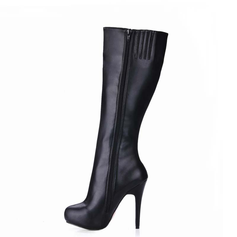 ФОТО high heels shoes woman women winter snow boots botas mujer invierno womens over the knee thigh high boots party zapatos mujer
