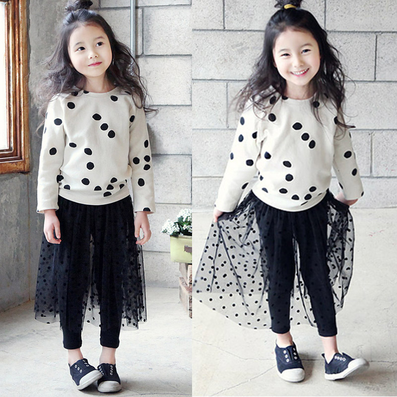 2016 New Children Clothing Set Baby Girls Boys Clothes Sets Long Sleeve T shirt dress Spring