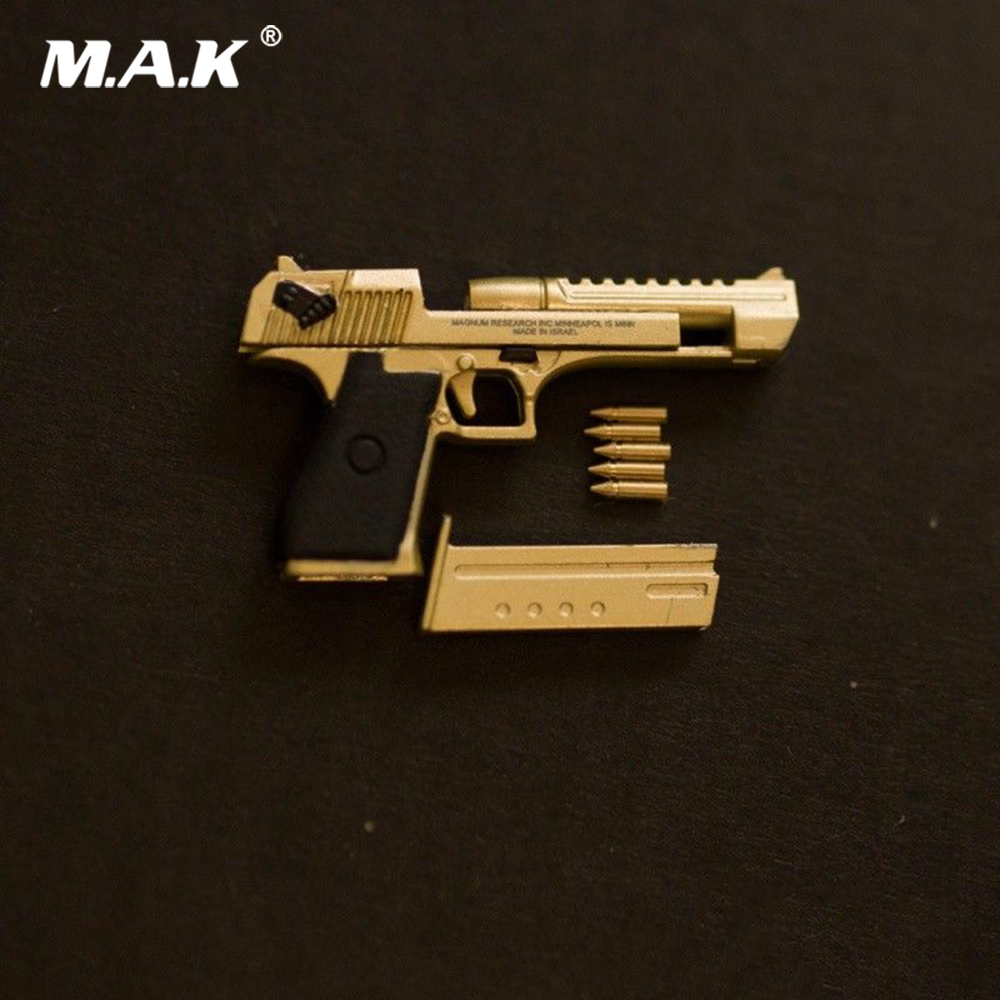 1/6 Alloy Pistol Model Desert Eagle Handgun Weapon Accessories Golden/Rose Golden/Silver Color for 12'' Soider Action Figure image