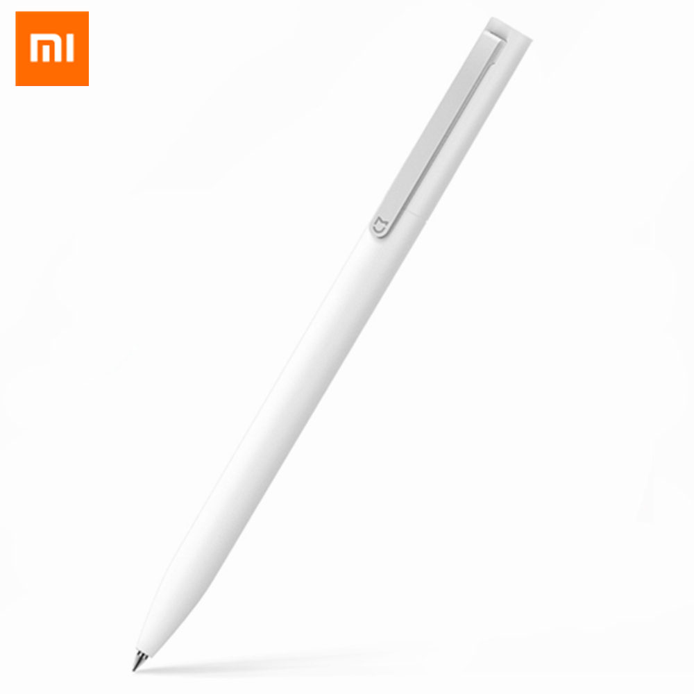 Original Xiaomi Mijia 0.5mm Point Sign Pen Smooth Switzerland Refill Pen Japan Black Blue Ink Pens 10mm Diamante Light Spell Pen original xiaomi mijia roller pen white