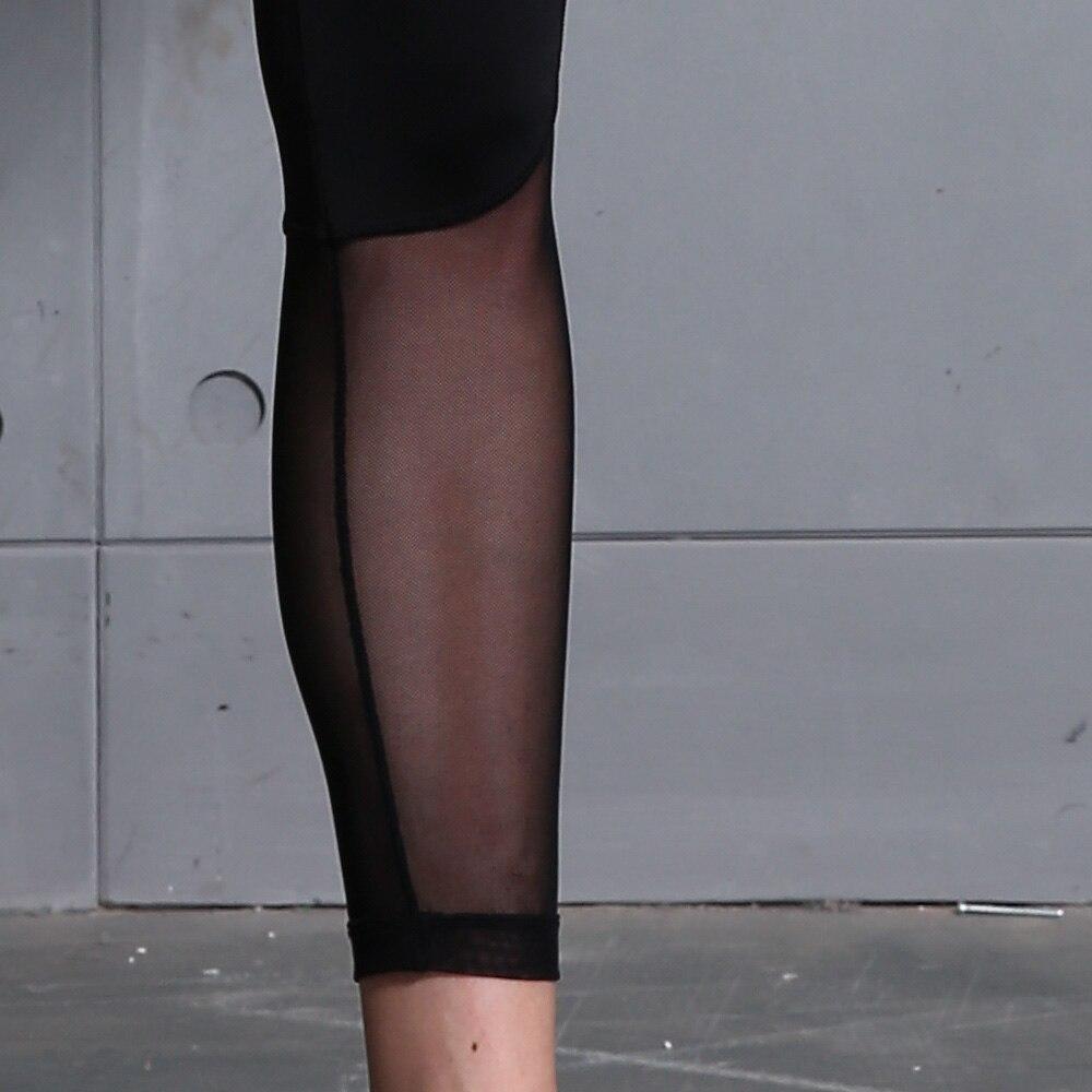 B.BANG Women Yoga Pants Mesh Patchwork Pencil Pants Elasticity Slim Jeggings Ladies Leggins Pantalon Stretch Femme 5
