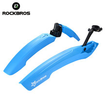 ROCKBROS MTB Fiets Fenders Fiets Vleugels Modder Guard Fietsen LED Light Spatbord Set Mountain Fiets Duurzaam Zwart Bike Fenders(China)