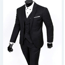 (Vest + swimsuit + pants) 2015 males's style three-piece formal blazer swimsuit / Male swimsuit of domesticate one's morality Business fits