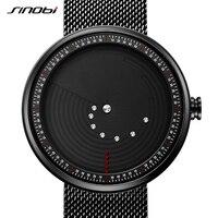 SINOBI Creative Geek Mens Watches Top Brand Luxury Watch Men Stainless Steel Mesh Band Waterproof Relogio Masculino 2019 #9768