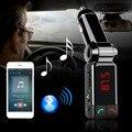 Carro MP3 Player De Áudio Bluetooth FM Kit Mãos Livres Carro Transmissor FM Sem Fio Modulador Lcd USB Carregador para o iphone Samsung