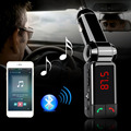 MP3 del coche Reproductor de Audio Bluetooth Transmisor FM Inalámbrico Modulador de FM Car Kit Manos Libres Display LCD USB Cargador para el iphone Samsung