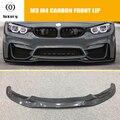 F80 F82 F83 PSM Стайлинг углеродное волокно Передние Губы для BMW F80 F82 F83 M3 M4 2012-2018 авто гоночный автомобиль передний бампер спойлер
