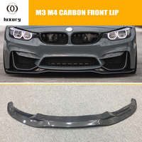 F80 F82 F83 PSM Styling Carbon Fiber Front Lip for BMW F80 F82 F83 M3 M4 2012 2018 Auto Racing Car Front bumper Lip Spoiler