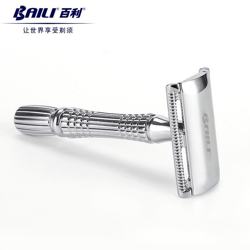 BAILI Classic New Upgrade Safety Razor Manual Exquisite Traditional Double Edge Blade Razor Shaver BT171 4