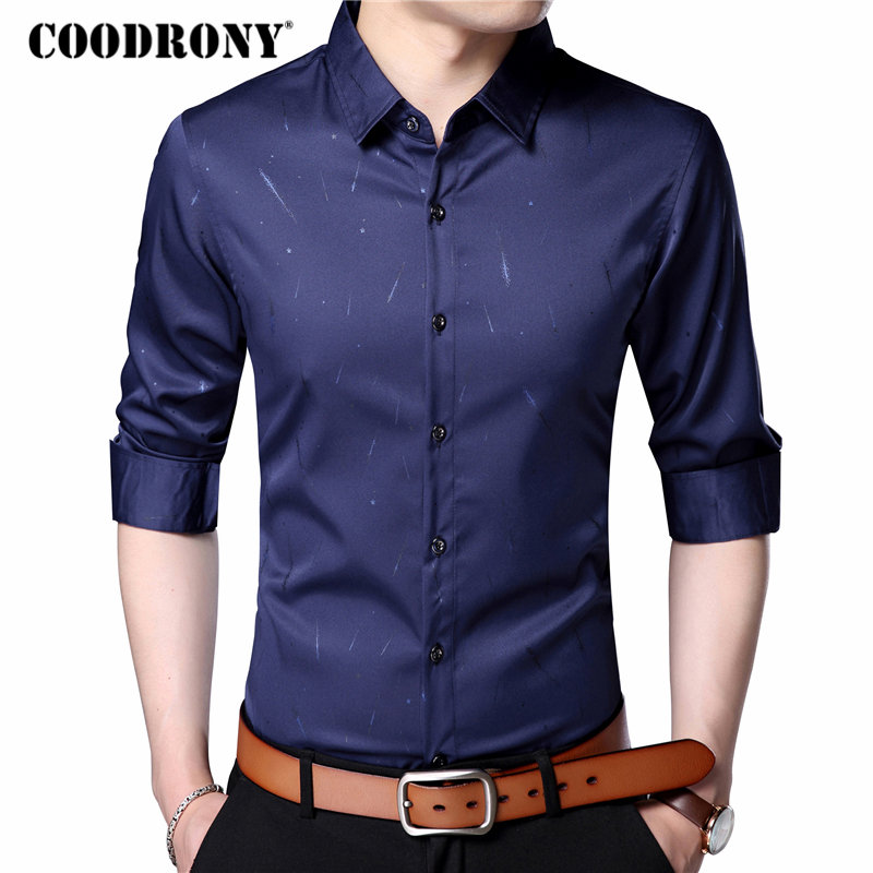 COODRONY Casual Shirts Mens Long Sleeve Pure Cotton Shirt Men Brand Clothing 2018 Spring Summer New Arrival Camisa Masculina 706