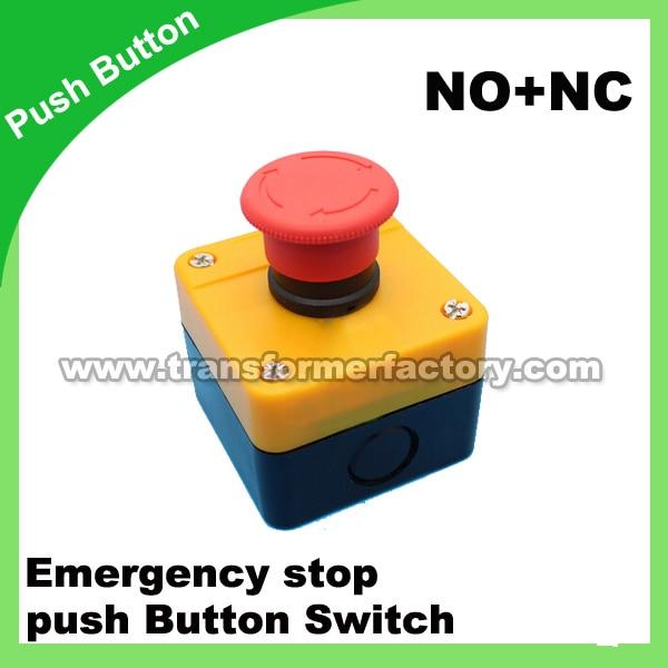 emergency stop push button switch NO+NC