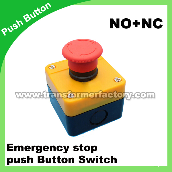 emergency stop push button switch NO+NC