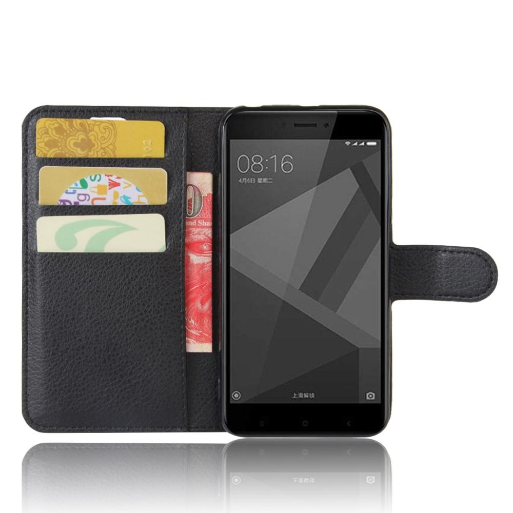 Xiaomi Redmi 4x Case Luxury PU կաշվե հետևի կափարիչ - Բջջային հեռախոսի պարագաներ և պահեստամասեր - Լուսանկար 2