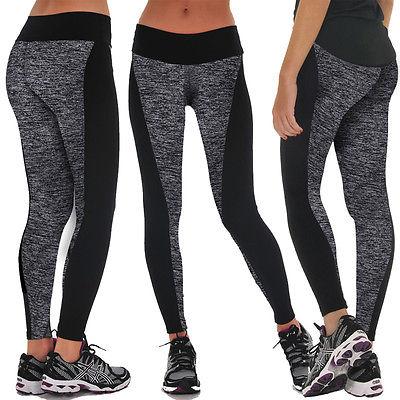 Women Yoga Sports Pants Elastic Wicking Force Exercise Tights Female Sports Fitness Running Trousers Slim Leggings yoga pants