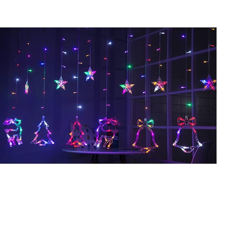 WoodPow 3M 12LED Holiday Party Ljusfönster Juldekoration Light - Festlig belysning - Foto 4