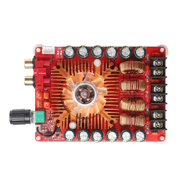 TDA7498E 2X160W Dual Channel Audio Amplifier Board, support  Single Channel, 24V Stereo Power Amp Module for CarVehicle Computer