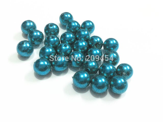 (Choose Size First) 6mm 8mm 10mm 12mm 14mm 16mm 18mm 20mm 23mm 25mm   Blue 18 Acrylic Imitation Pearl Beads 03c2d8db0577