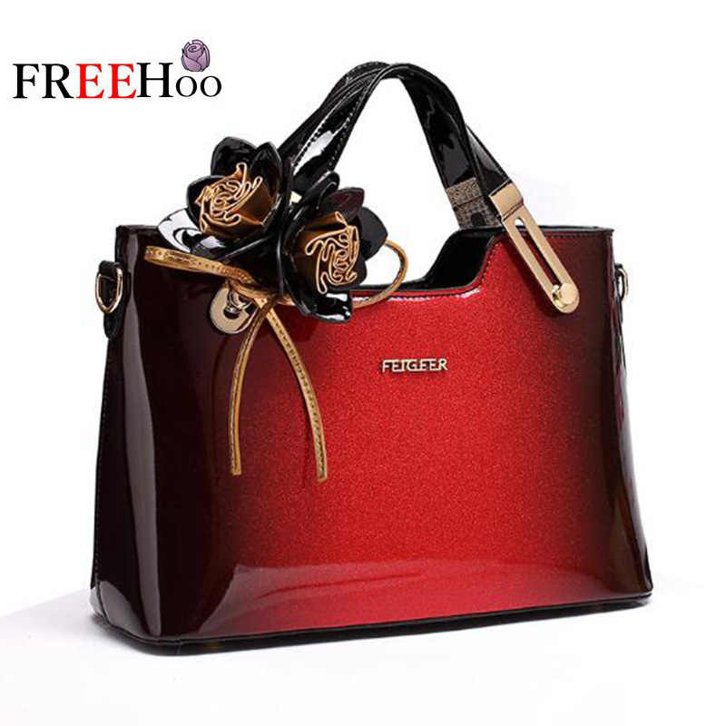 7fdab416c967 New style designer handbag patent leather female tote bags for women 2018 famous  brands messenger bag