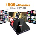 S912 H96pro + Europa Iptv Android Set Top Box Amlogic 3G/32G H.265 IUDTV 1500 + Francês Turco Italiano NOS H96pro Plus TV receptor