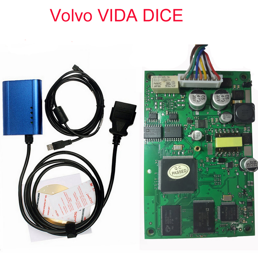 imágenes para Envío Libre Para Volvo VIDA DADOS PRO + Full Chip Vida Dice Diagnóstico 2014D Fimware Actualización y Auto-Test herramienta Sin caja de Cartón
