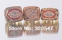 Free Shipping 3 Pcs 1982 1987 1991 Washington Redskins SUPER BOWL Ring CHAMPIONSHIP REPLICA RING Size