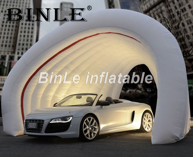 Commercial grade trade show display inflatable <font><b>tent</b></font> for exhibition dome inflatable <font><b>car</b></font> <font><b>garage</b></font> <font><b>tent</b></font> outdoor use image