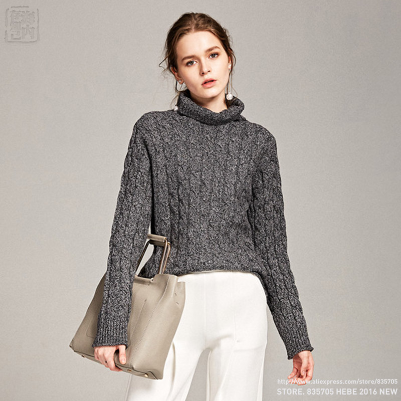 96a7c8cbf80 US $69.9 |2017 Starting Women Wool Cashmere Turtleneck Allover Cable Knit  Pullover Sweaters Thick Flexible Twist Soft Relaxed Fitting Hot-in  Pullovers ...