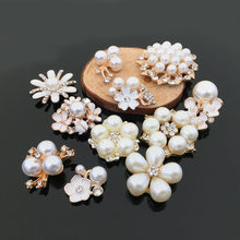 3f68b1f742a8 10 unids lote perla y cristal metal Bisutería para pelo resultados  componentes DIY fabricación Pendientes flor COLLAR COLGANTE p.
