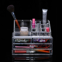 Transparent plastic cosmetic finishing box drawer combination superimposed storage box makeup manager ZP12101703