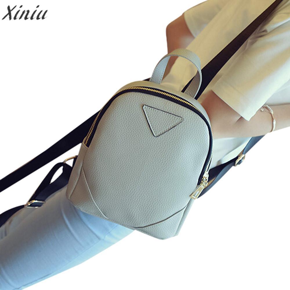 Backpack Women luxury leather Backpacks For Teenage Girls Travel Rucksack Shoulder Bag high quality Mochila Feminina #5