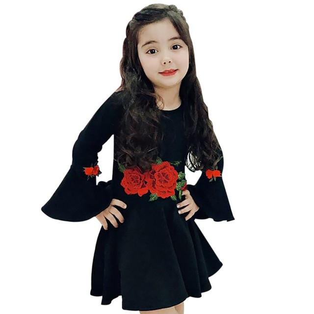 d839af014705 2019 Spring Summer Toddler Infant Child Kid Girl Baby Rose Dress ...