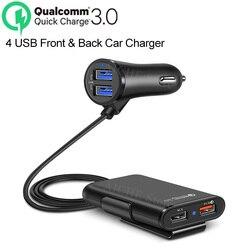 4 puertos QC 3,0 USB cargador de coche rápido pegatinas accesorios para BMW e34 e46 g30 x5 e70 e92 x6 e39 f30 f31 f10 x5 e53 e70 e90