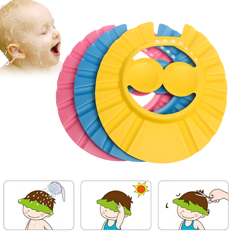 Adjustable Shower Bath Visor Shield Wash Hair Cap Shampoo Resistance Protect Ear Eye Hat Baby Children Kids Infant
