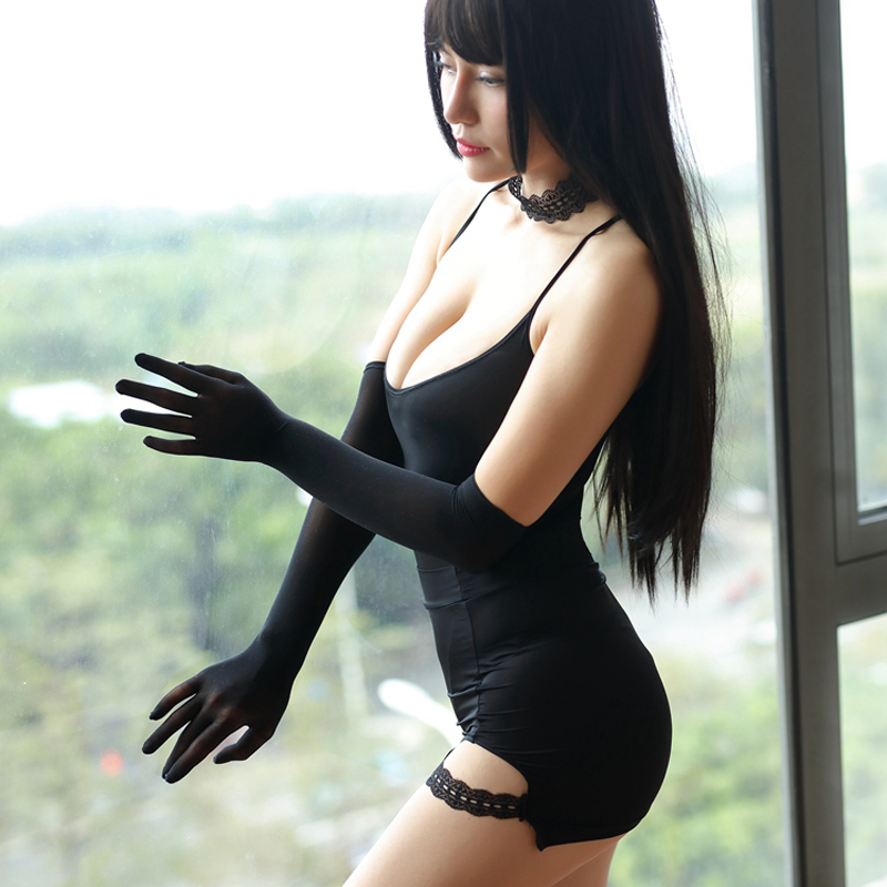 Hot Sexy Lace Seamless Long Gloves Long Finger Glove Night Club Costume Gloves Evening Party Wear Night Gloves F23