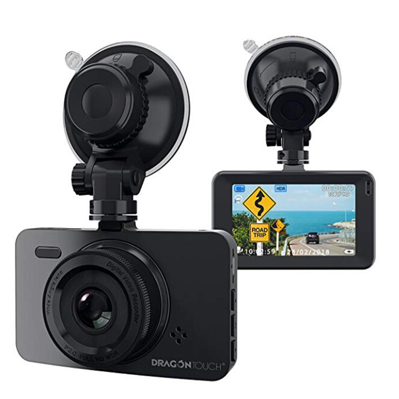 AKASO Dragon Touch D1 Dash Cam 3 LCD 1080P Full HD Car Dashboard Camera DVR 170 Wide Angle Car Camera Recorder with G Sensor