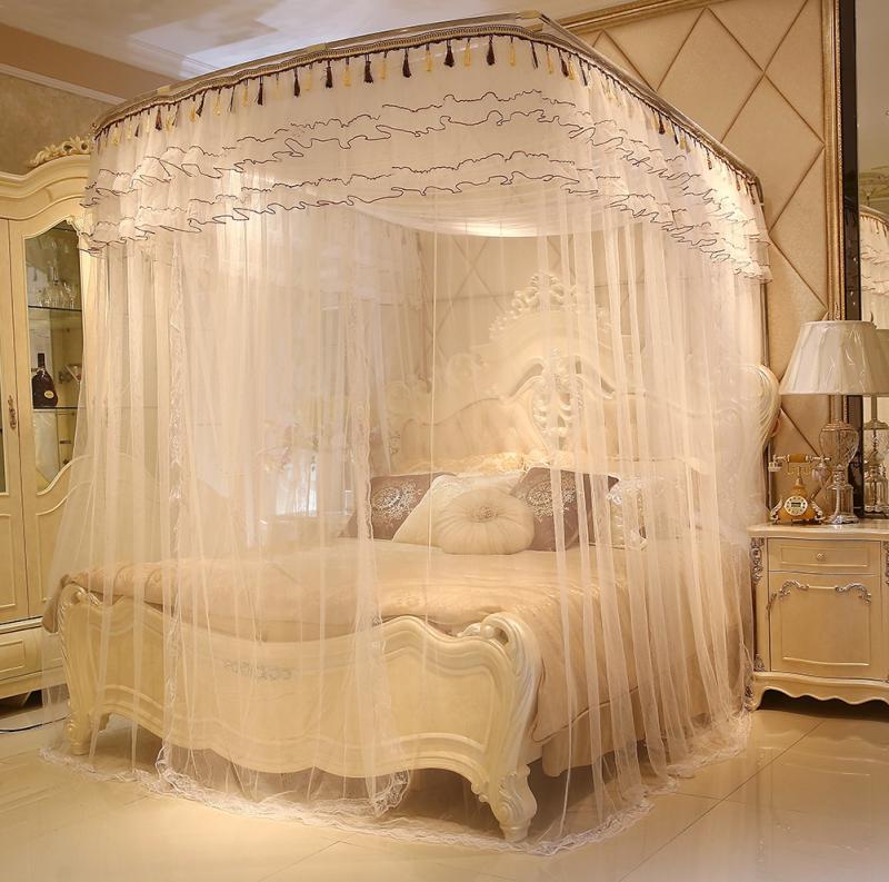 Heißer verkauf schlafzimmer Drei Türen Palace Mosquio Netze Landung ...