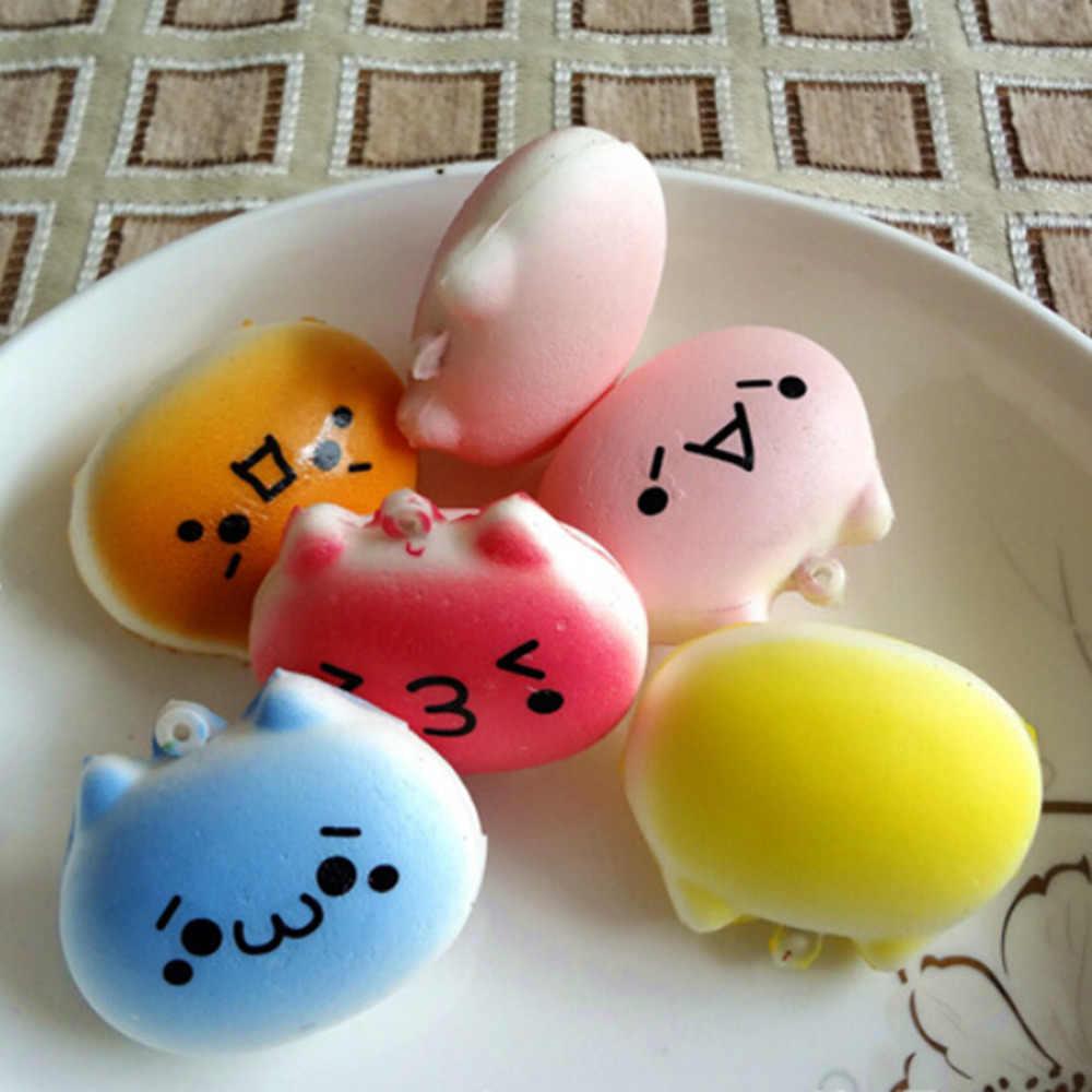 1 Pc schöne design Kawaii Squishy Brot Japanischen Kaomoji Ausdruck Totoro Telefon Straps Kinder Geschenk Spielzeug