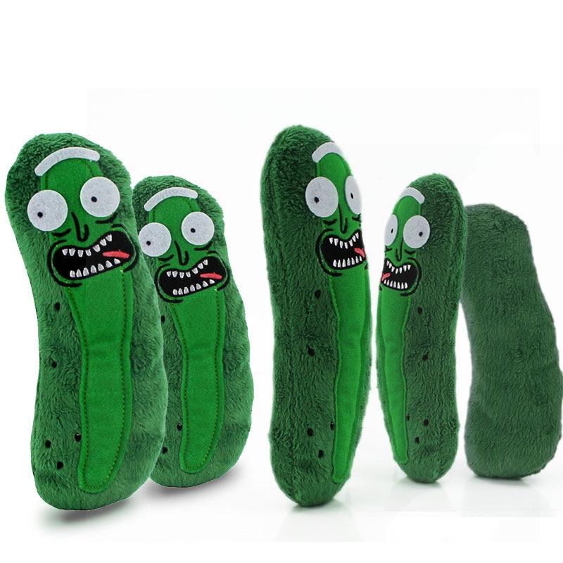 5pcs set Rick and Morty Animation Pickle Cucumber Rick Plush Movie TV Doll Toys Soft Pillow