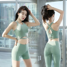 S-XL New Yoga Set Fitness Sportswear Women Sports Suit Fitness Gym Clothing Sexy Sports Bra Push Up leggings Shorts Tracksuits(China)